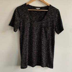 Club Monaco Black / Grey Tee T-Shirt with pocket